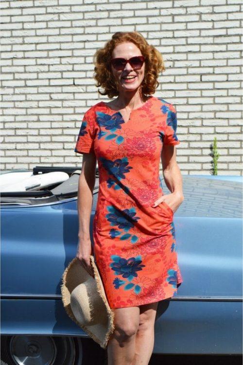 SRNDPTY Dress Esmee Flowers Coral