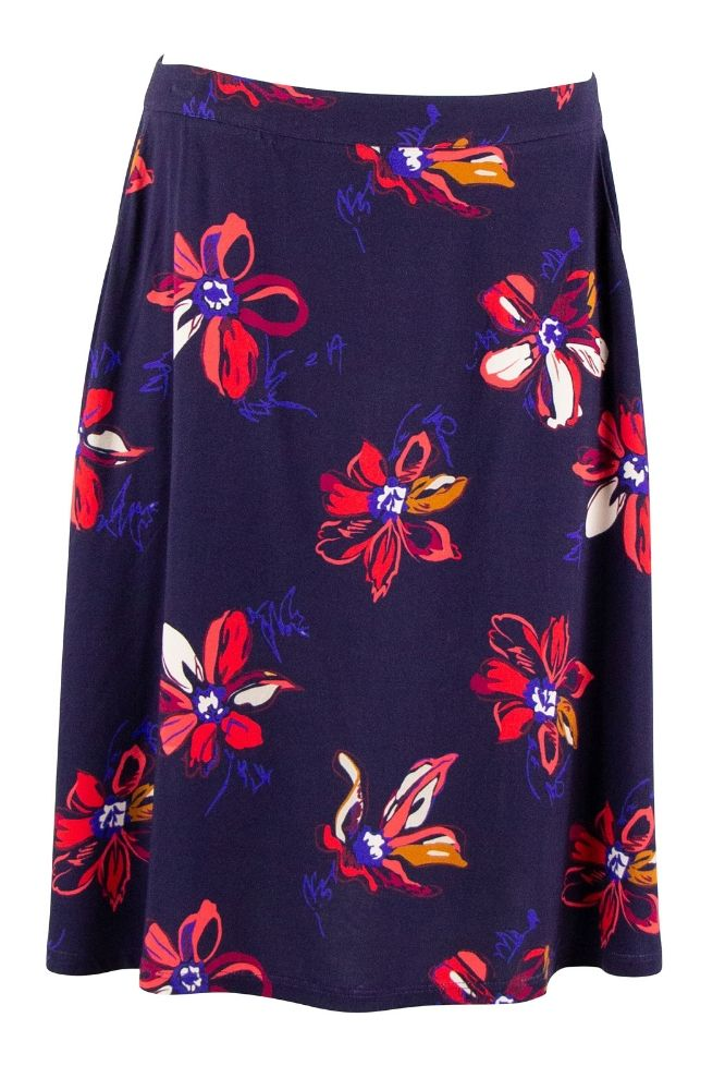 Zilch Skirt Aquarel Navy