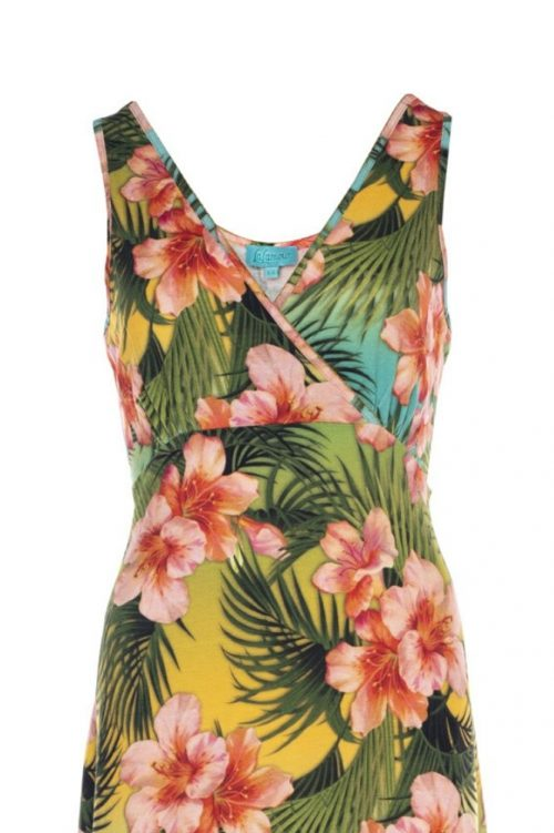 Lalamour Long Singlet Dress Tropical
