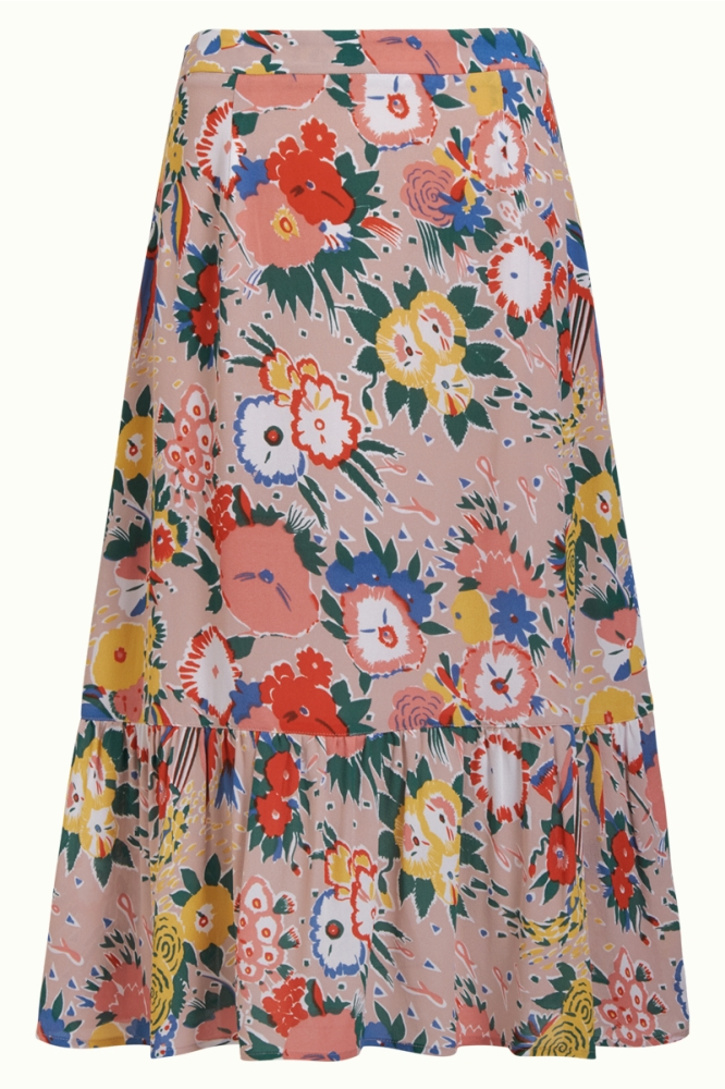 King Louie Esme Skirt Sorrento Granny Pink