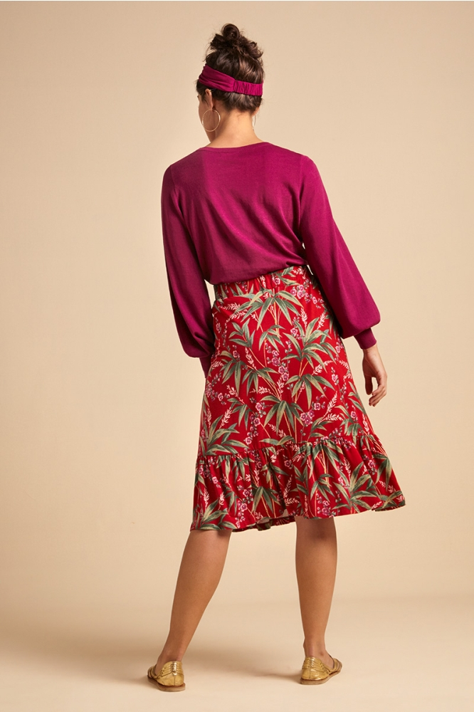 King Louie Esmee Skirt Tahiti Chili Red