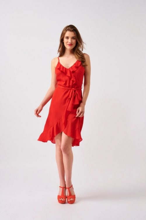 Smashed Lemon Dress Ruffles Maggie Mae Red
