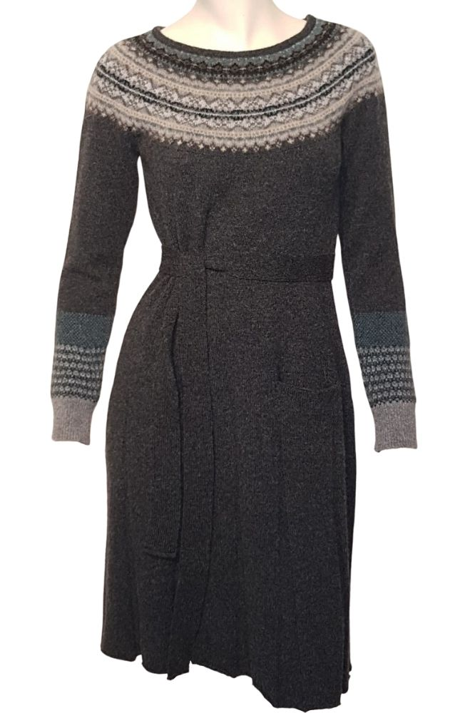 Eribé Alpine Long Sleeve Dress Colliery