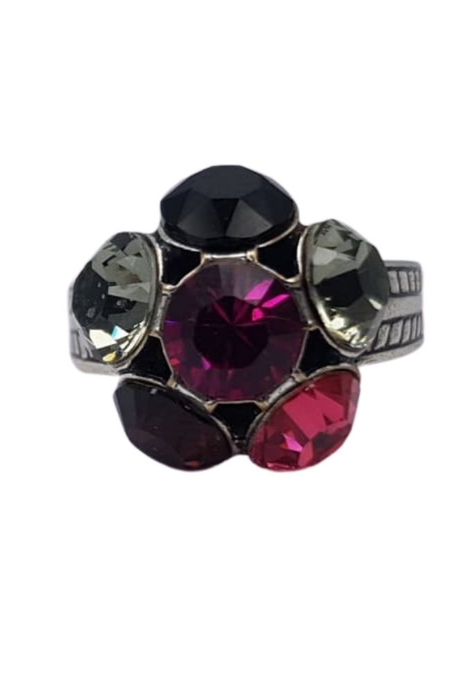 Nell by La Vie Flower Ring Swarovski NBL-1009