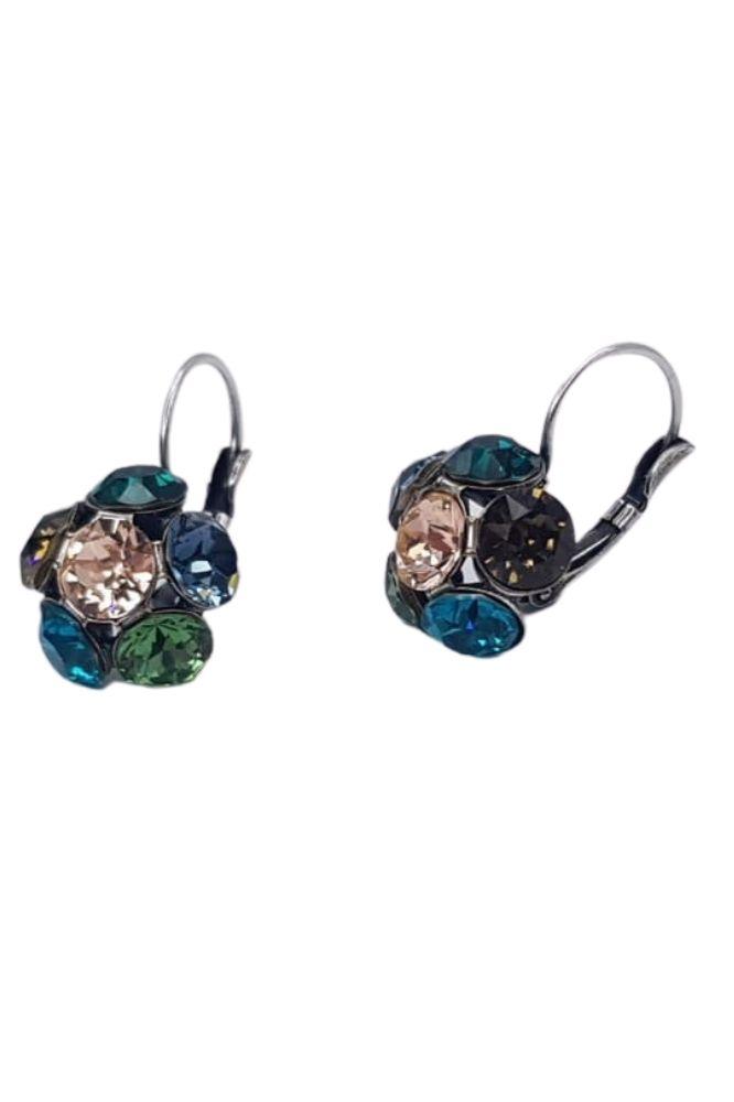 Nell by La Vie Hanging Flower Earriing Swarovski NBL-1027