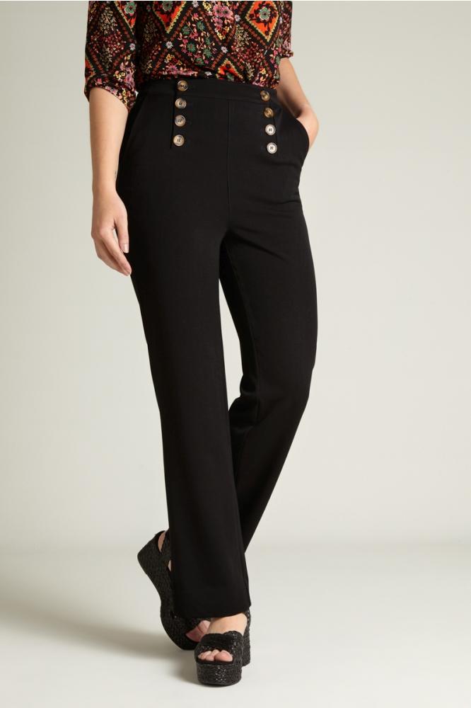 King Louie Lara Sailor Pants Black